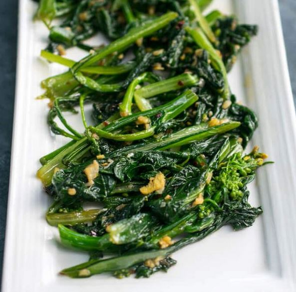 Stir-Fried Choy Sum, one of best Asian side dishes